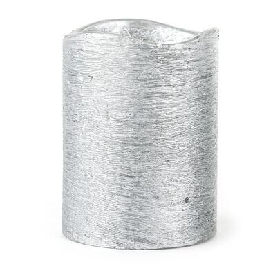 LED svíčka stříbrná