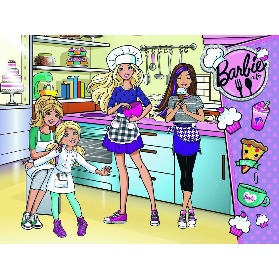 Puzzle Trefl Barbie společně v kuchyni 18237 30 dílků