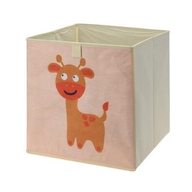 Úložný box na hračky 32 x 32 x 30 cm, žirafa