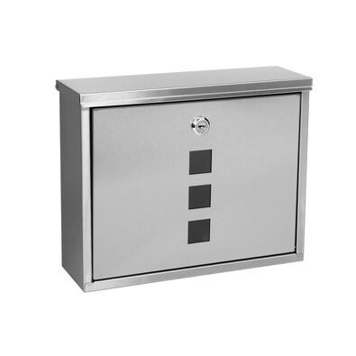 Cutie poştală din inox Elda, argintiu