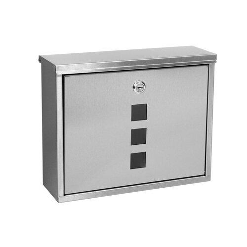 Poštovní nerezová schránka Elda, stříbrná