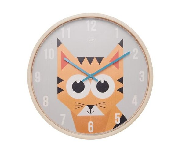 Dětské nástěnné hodiny s tygrem JIP0903