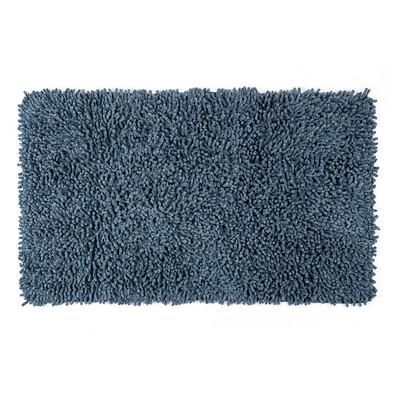 Koupelnová předložka Bari modrá, 45 x 75 cm