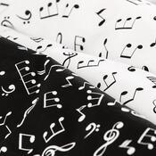 Lenjerie pat 1 pers. 4Home Music, bumbacalb + negru, 140 x 200 cm, 70 x 90 cm