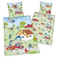 Herding Tűzoltók gyermek pamut ágynemű, 140 x 200 cm, 70 x 90 cm