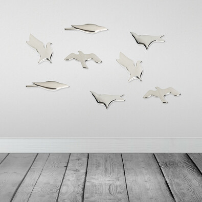 3D tapeta BIRDS platina, sada 4 ks