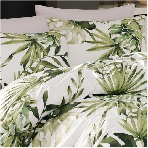 BedTex Bavlněné povlečení Botanic zelená, 140 x 200 cm, 70 x 90 cm