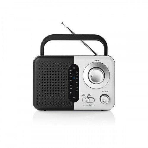Nedis FM Rádio 2,4 W, biela