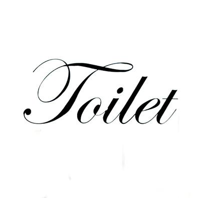 Nástěnná samolepka Toilet