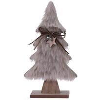 Koopman Hairy tree karácsonyi dekoráció,  világosbarna, 41 cm