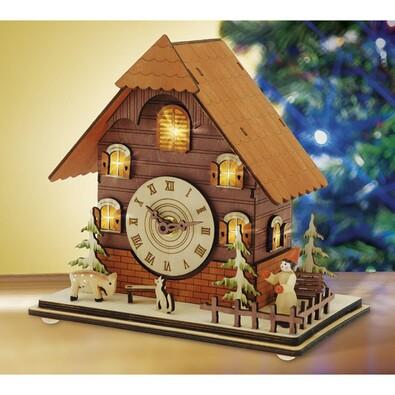 Stolní hodiny domeček svítící