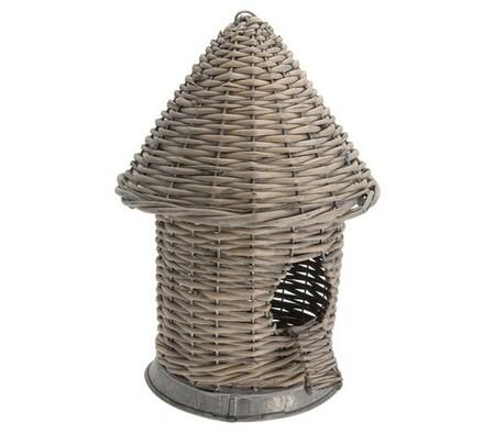Ptačí budka ratanová, hnědá, 21 x 30 cm