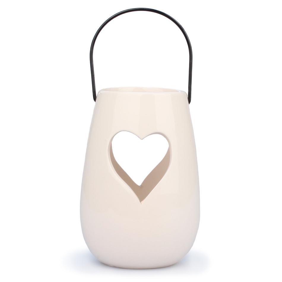 Bílý keramický závěsný svíce Dakls