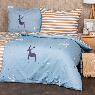 Lenjerie bumbac 4Home Deer love,, 220 x 200 cm, 2 buc. 70 x 90 cm