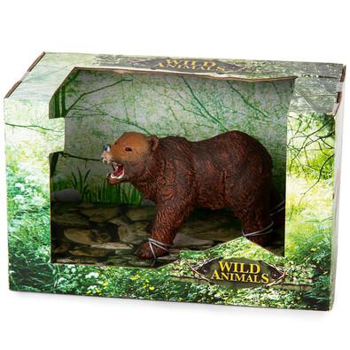 Medveď Grizzly hnedá, 14 cm