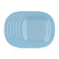 Luminarc Kwadratowy talerz deserowy CARINE 19 cm, 6 szt., niebieski
