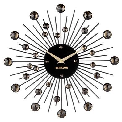 Karlsson 4860BK Designové nástenné hodiny, 30 cm