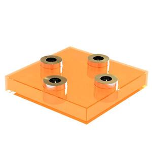 Svícen Square Lighz, oranžový