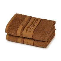 4Home Bamboo Premium törölköző, barna, 30 x 50 cm, 2 db-os szett