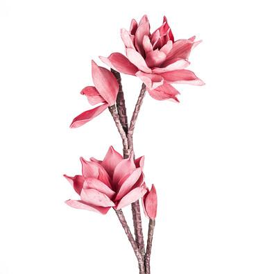 Umělá květina dekorativní růžová