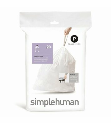 Simplehuman Vrecia do odpadkového koša P 50-60 l, 20 ks