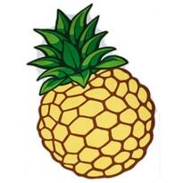 Ananász strandtörölköző, 160 x 110 cm