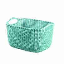 Cutie de depozitare Curver Knit 8 l, albastru deschis
