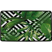 Butter Kings Vnútorná multifunkčná rohožka Green leafs, 75 x 45 cm