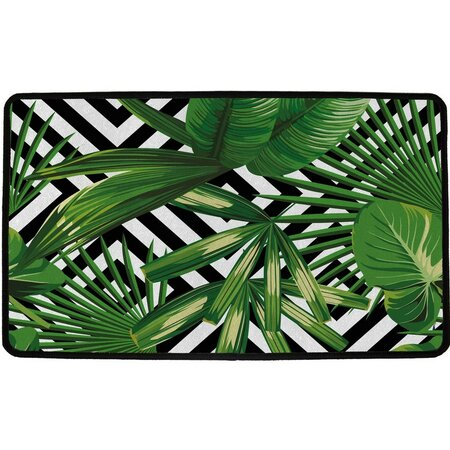 Butter Kings Vnitřní multifunkční rohožka Green leafs, 75 x 45 cm