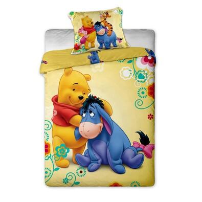 Dětské bavlněné povlečení Medvídek Pú s oslíkem, 140 x 200 cm, 70 x 90 cm
