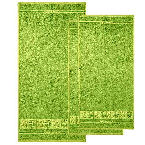 4Home Sada Bamboo Premium osuška a uterák zelená, 70 x 140 cm, 2x 50 x 100 cm