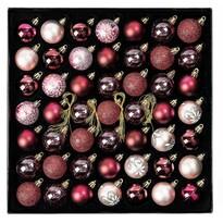 Sada vianočných ozdôb Ornate červená, box 49 ks