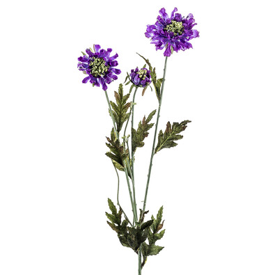 Umělá květina Scabiosa 2 ks