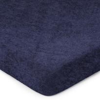 4Home Prześcieradło frotte ciemnoniebieski, 160 x 200 cm