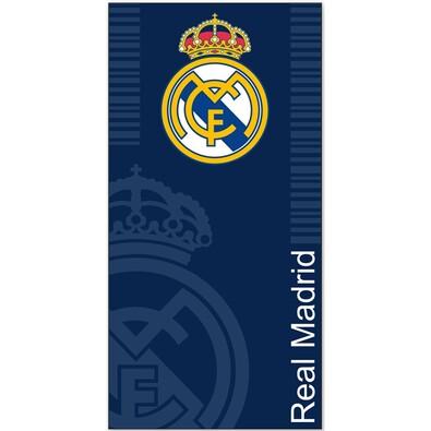 Osuška Real Madrid modrá, 75 x 150 cm