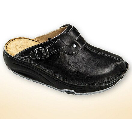 Dámské pantofle s aktivní podrážkou, černá