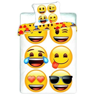 Dětské bavlněné povlečení Emoji, 140 x 200 cm, 70 x 90 cm