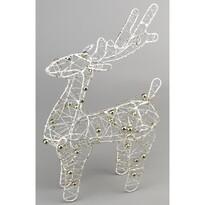 Decorțaiune de Crăciun Ren Brawley alb, 20 cm