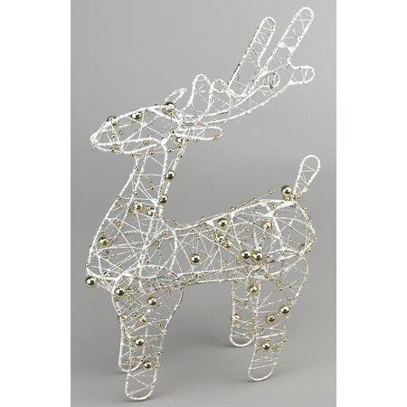 Brawley karácsonyi dekoráció, fehér, 20 cm