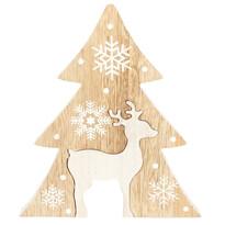 Pom de Crăciun Renna, din lemn, maro