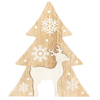 Renna karácsonyi fából készült kisfa, barna