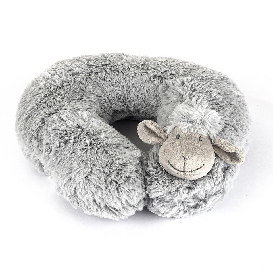 BO-MA Trading Cestovní polštářek Ovečka šedá, 30 cm