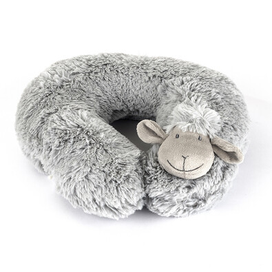 Pernă de călătorie Oiță gri, 30 cm