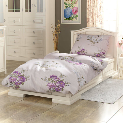 Kvalitex Bavlněné povlečení Provence Beatrice fialová, 240 x 220 cm, 2 ks 70 x 90 cm