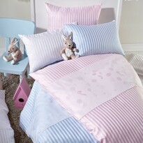 Stella Ateliers gyermek damaszt ágynemű Oskar és barátai, rózsaszín, 100 x 135 cm, 40 x 60 cm
