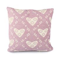 Poszewka na poduszkę Serce różowy, 40 x 40 cm