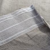 Záclona se skrytými poutky Pietro šedá, 135 x 245 cm