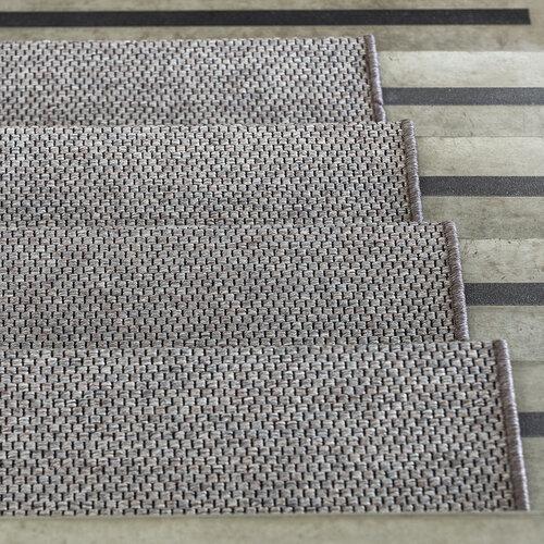 Nášlap na schody Nature obdelník tmavě béžová, 25 x 80 cm