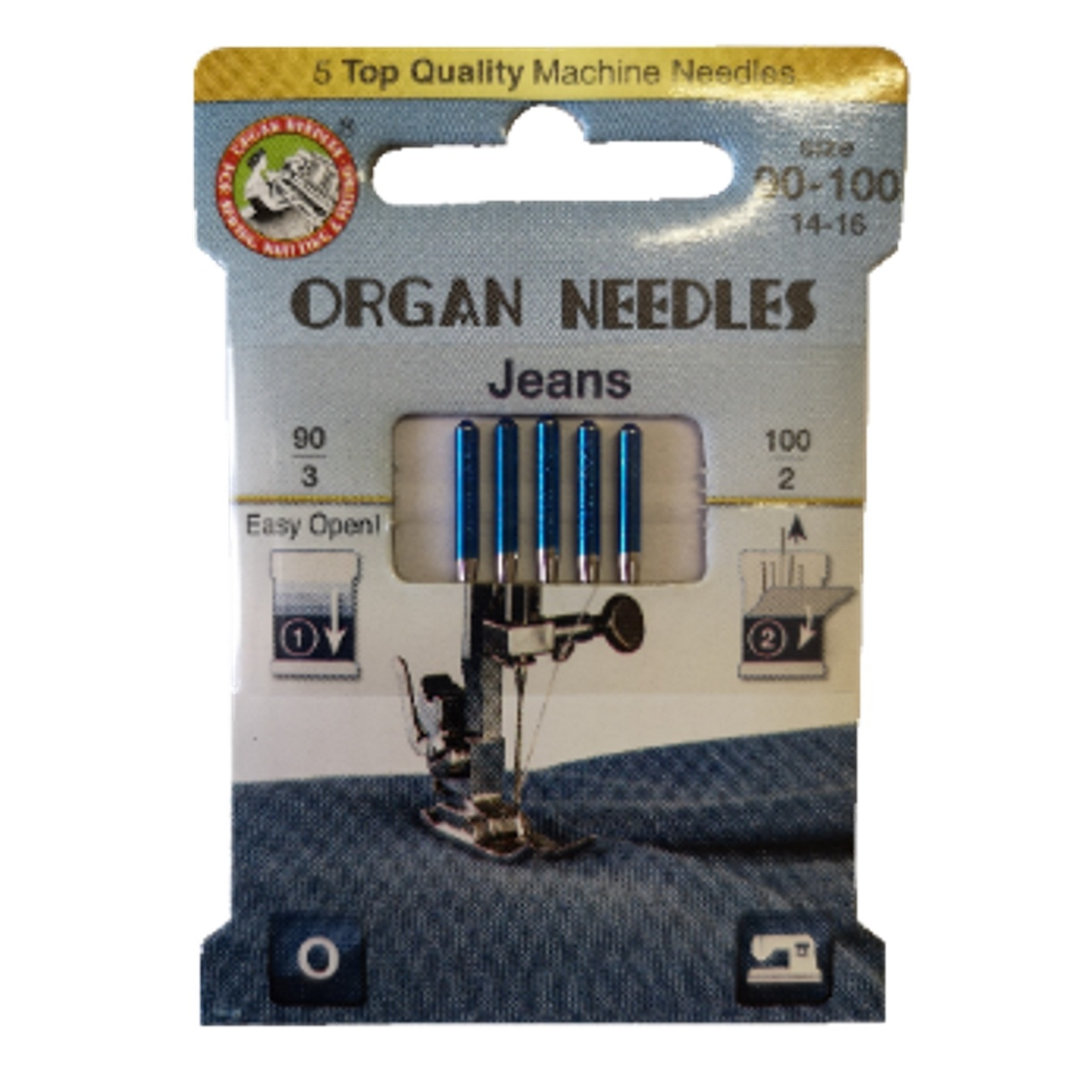 Jehly Organ Needles Jeans 90-100