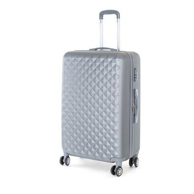 Pretty UP Cestovní skořepinový kufr ABS21 L, šedá